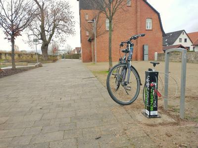 Fahrradreparaturstation in Lügde